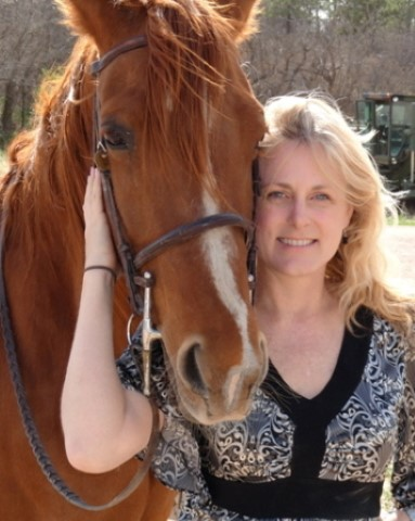 Mary Kelly and her horse