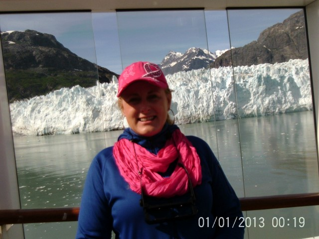 Mary Kelly speaking on an Alaskan Cruise