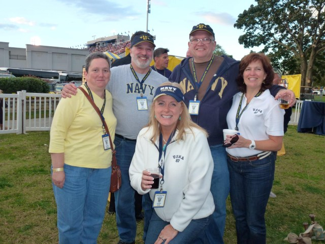 Mary Kelly with Naval Academy classmates