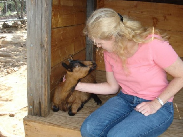 Mary Kelly, who seems to have alot of pictures with goats