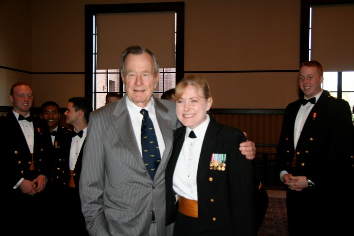 Mary and President George Bush, Sr