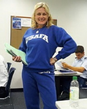 Mary Kelly at USAFA when the Naval Academy lost to the Air Force Academy
