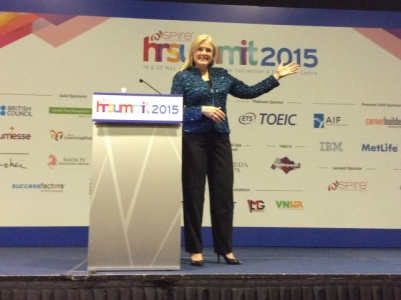 Mary Kelly at Global HR Summit in Singapore 2015
