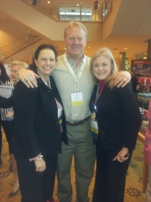 Mary Kelly with Gina Carr and Karl Mecklenburg