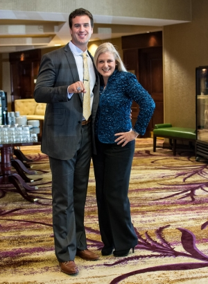 Mary Kelly with Ben Utecht and his Superbowl Ring