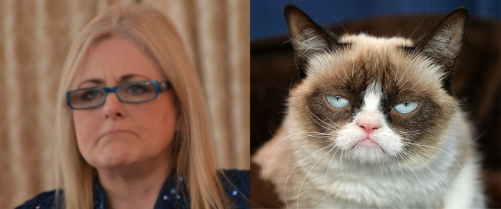 Grumpy Cat and Grumpy Mary Kelly
