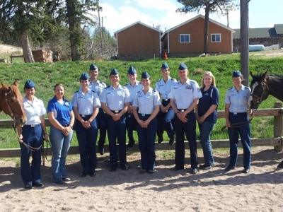 Mary Kelly with Air Force Academy Equestrian Team
