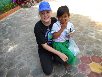 Mary Kelly and her Cambodian Friend