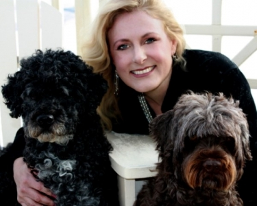 Mary Kelly with her dogs