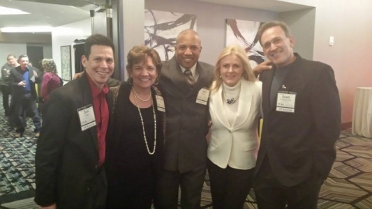 Mary Kelly and Don Cooper, Christie Ward, John Register and Scott Friedman