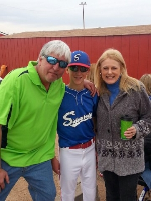 Little League baseball, Coach Randy and Mary Kelly