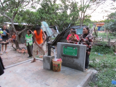 Mary Kelly in Cambodia building clean water wells