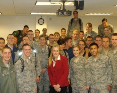 Dr. Mary Kelly and her cadets