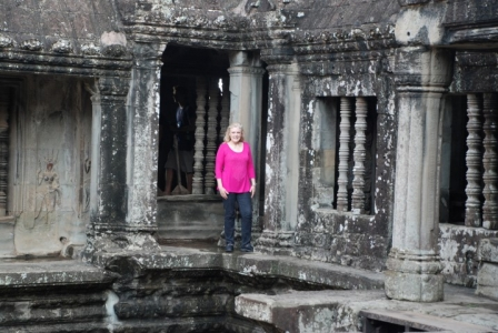 Mary Kelly at Ankor Wat
