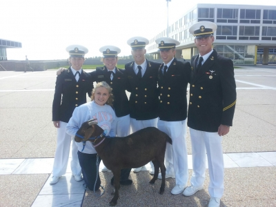 Mary Kelly brings Navy goat mascot to the Air Force Academy