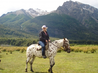 Mary Kelly in Patagonia on Candy
