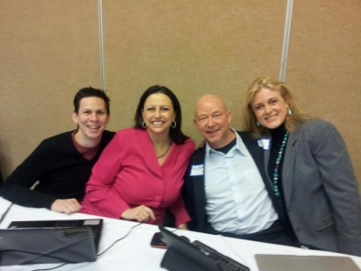 At the NSACO I love Tech event with Don Cooper, Gina Carr, Terry Brock, and Mary Kelly