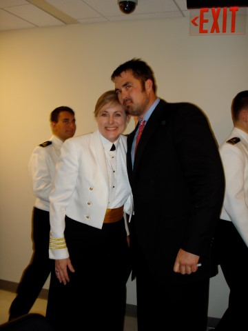 Mary Kelly with Marcus Luttrell, author of Lone Survivor