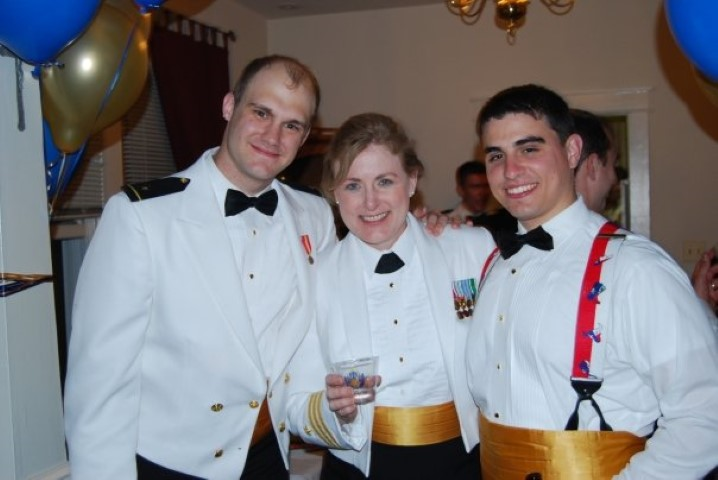 USNA Commissioning Week - Phillip Crawford, Robert Goodwin and Mary C Kelly