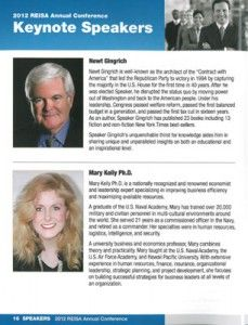 Newt Gingrich and Mary Kelly - Keynote Speakers