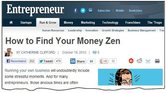Newspaper Clips - Entrepreneur - How to Find Your Money Zen