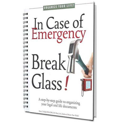 In Case of Emergency Break Glass Spiral Bound Workbook