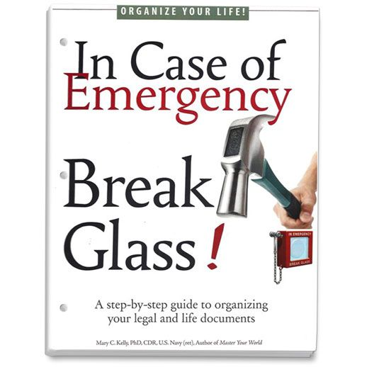 Shop Product - In Case of Emergency Break Glass Three Hole Punched Loose Leaf Workbook
