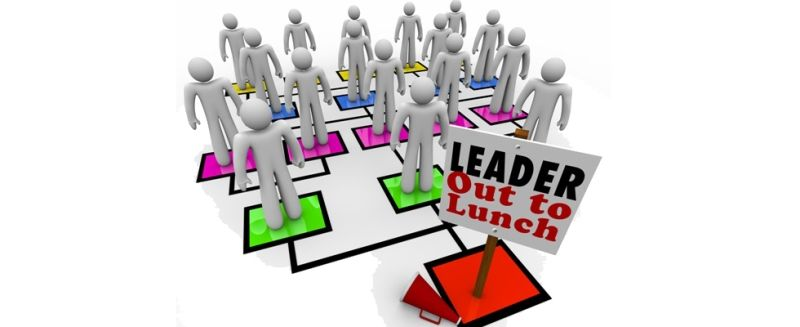 Leader Out to Lunch Missing Leadership Company Organization Chart